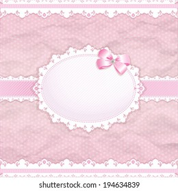 Baby shower for girl pink pastel tones vector eps10