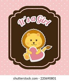baby shower graphic design , vector illustration