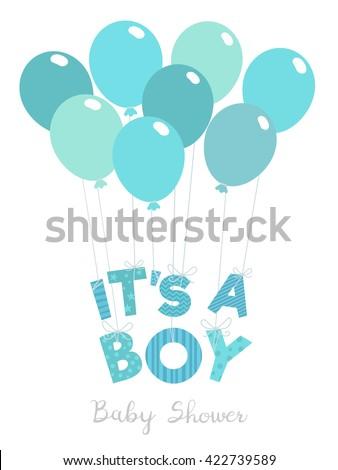 Baby Shower Invitation Boys Boy Vector Stock Vector Royalty Free