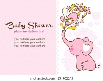 Baby Shower Invitation Floral Images Stock Photos Vectors