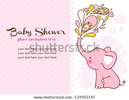 Baby Shower Invitation Card Stock Vector Royalty Free 134902145