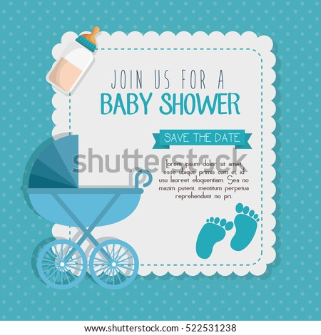 Baby Shower Invitation | Baby Shower Invitation Card Stock Vektorgrafik Lizenzfrei