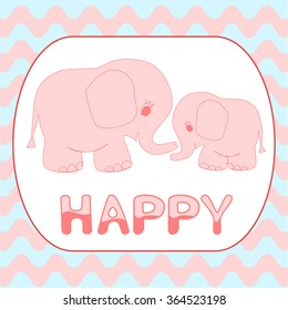 elephant mother with baby stock vectors images vector art