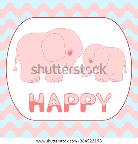 baby shower invitation card cartoon pink stock vector royalty free