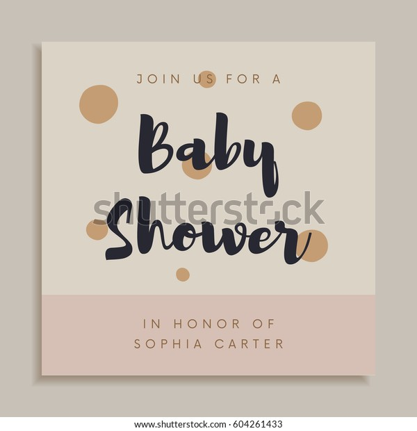 Baby Shower Invitation Card Design Template Stock Image