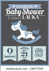 baby shower invitation card template vector/illustration