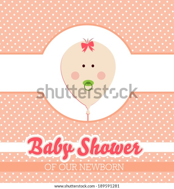 Baby Shower Invitation Card Template Stock Vector Royalty