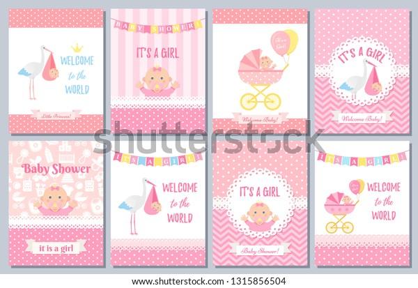 Baby Shower Invitation Card Vector Baby Stock Vector Royalty Free 1315856504