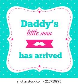 "Baby shower invitation ""Daddy's little man"""