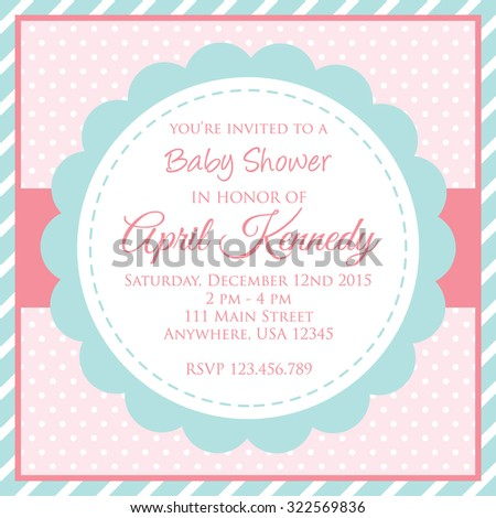 Baby shower invitation design suitable your stock vector royalty baby shower invitation design suitable for your baby birth celebration party filmwisefo