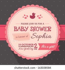 baby shower invitation, girl
