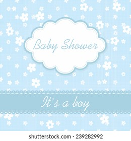 "Baby shower invitation ""It's a boy"""