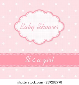 """Baby shower invitation """"It's a girl"""""""