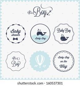 Baby shower invitation labels