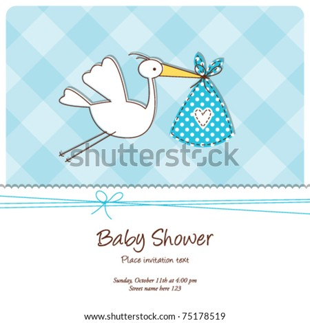 Baby Shower Invitations Templates | Baby Shower Invitation Template Cute Baby Stock Vektorgrafik