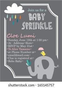 Baby Shower Invitation Template Elephant