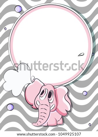 baby shower invitation template baby elephant stock vector royalty