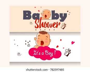 baby shower invitation template greeting card stock vector royalty