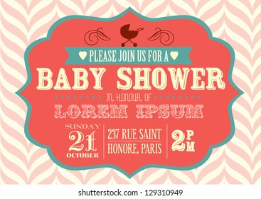 baby shower invitation template vector/illustration