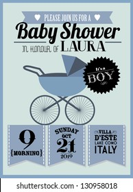 baby shower invitation template vector/illustration