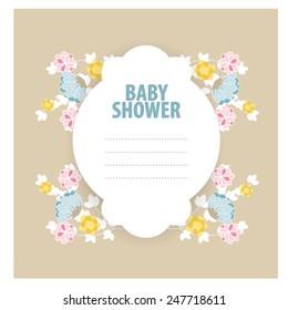 Baby Shower Invitation. vector