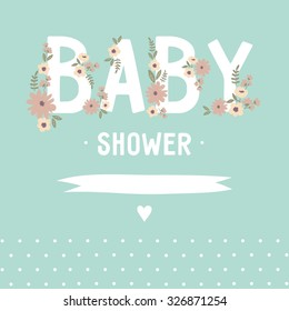 Baby Shower invitation vector design