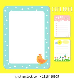 Baby shower invitations cards vector note list poster greeting template kids paper layout design sheets dairy illustration.