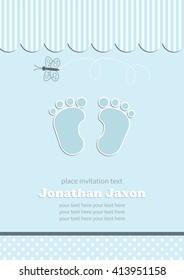 baby shower invitation.vector/illustration