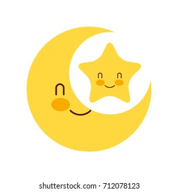 baby shower moon and star cartoon decoration