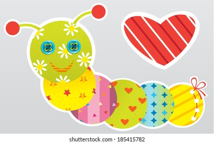 Baby stickers (vector illustration)