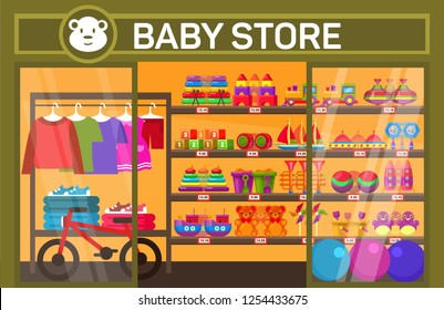 Baby store with children items.
