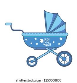 Baby stroller icon - vector illustration