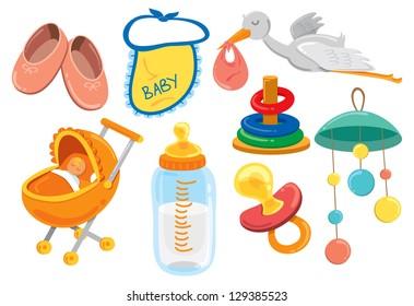 baby stuff cartoon icon
