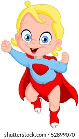 Baby Super hero flying