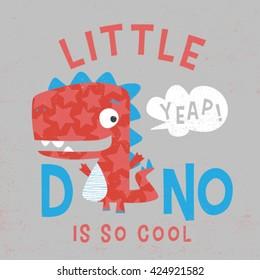 baby tee print design with dinosaur illustration and typo