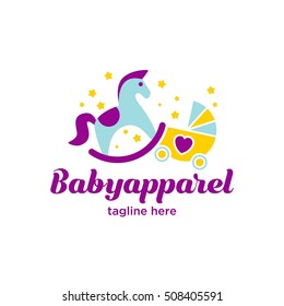 Baby, toddler, kid apparel and accessories logo for your adorable baby.