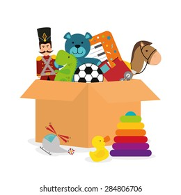 Baby toys design over white background, vector illustration.