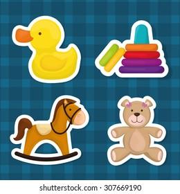 Baby toys design, vector illustration eps 10.