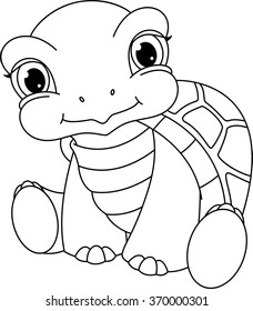 mommy turtle coloring pages - photo#4