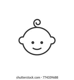 Baby vector, kid boy icon, child icon, newborn vector