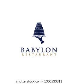 Babylon Restaurant logo Icon - Vector