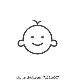 Baby's room line icon, outline vector sign, linear style pictogram isolated on white. Symbol, logo illustration. Editable stroke