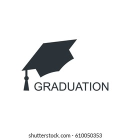 Bachelor cap graduation cap vector illustration.