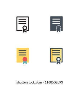 bachelor icons vector with four different styles