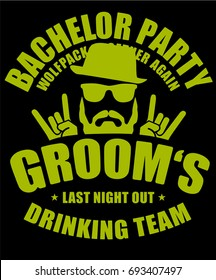 Bachelor Party Grooms Drinking Team