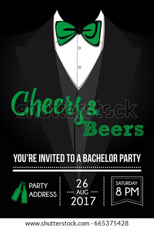 Bachelor Party Invitation Card Stock Vector Royalty Free 665375428