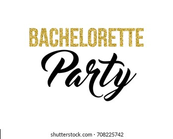 Bachelorette party calligraphy invitation card, banner or poster graphic design lettering vector element. Hand written hen party invite decoration.