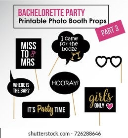 Bachelorette Party Hen Party Bridal Shower Stock Vector Royalty