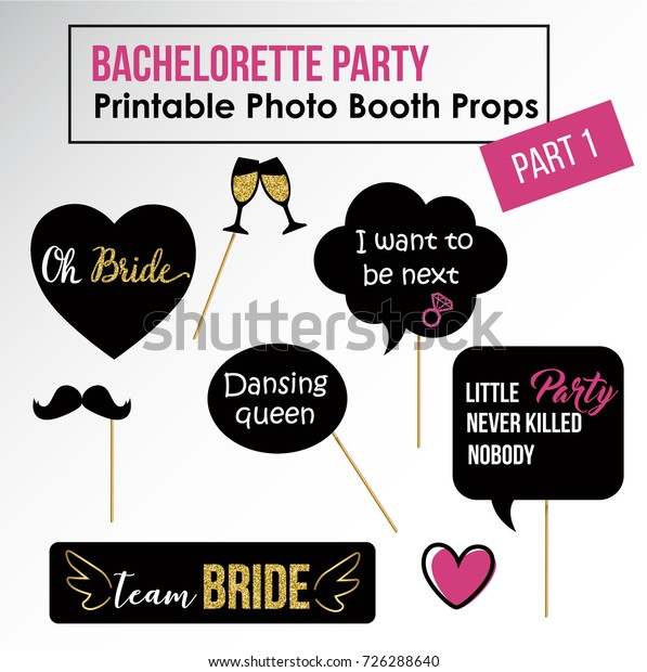 photo relating to Free Printable Bridal Shower Photo Booth Props known as Bachelorette Get together Fowl Get together Bridal Shower Inventory Vector