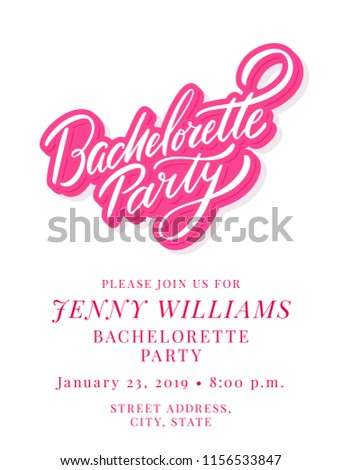 bachelorette party invitation template stock vector royalty free